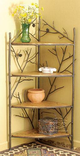 Shelf angle iron art decoration