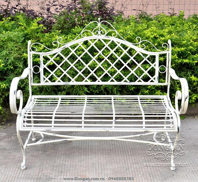 Ghế dài sân vườn sắt phong cách cổ điển DA13-GD07
