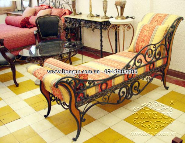 Ghế dài sắt nghệ thuật Đông Ấn DAG-05