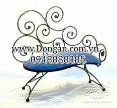 Ghế dài sắt nghệ thuật Đông Ấn DAG-04