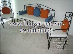Ghế dài sắt nghệ thuật Đông Ấn DAG-06