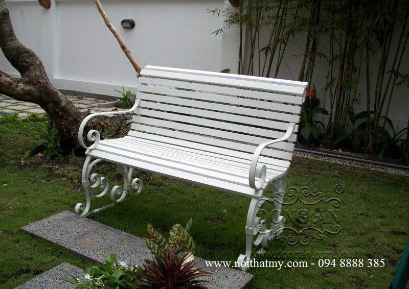 Ghế sân vườn sắt mỹ thuật Đông Ấn
