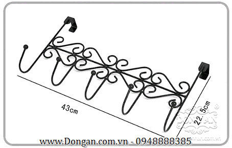 Giá treo đẹp bằng sắt mỹ thuật DA13-GT04