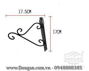 Móc treo hoa đẹp sắt mỹ thuật DA13-GT06