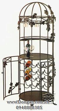 Kệ rượu sắt mỹ thuật DA13-KR48