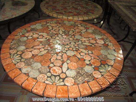 Mặt bàn đá mosaic DA13-MO10