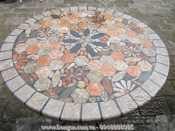 Mặt bàn đá mosaic DA13-MO20