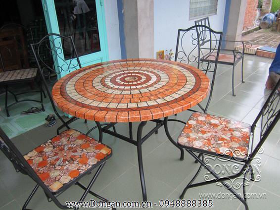 Mặt bàn đá mosaic DA13-MO19