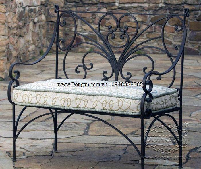 Ghế sân vườn đẹp sắt nghệ thuật DAG-18