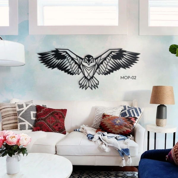 Metal wall art decoration Eagle MOP-02