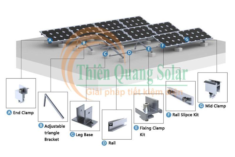 Khung giá đỡ tấm pin năng lượng mặt trời