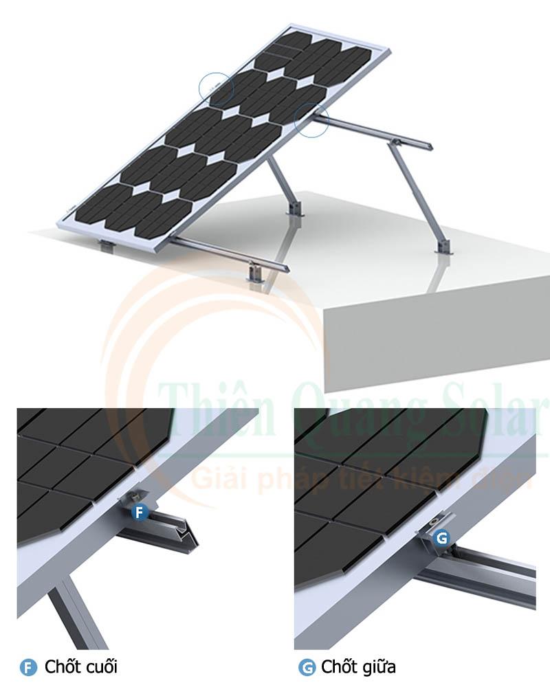 Khung giá đỡ tạo độ nghiêng cho tấm pin năng lượng mặt trời