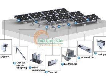 Cách lắp đặt pin năng lượng mặt trời trên mái bê tông