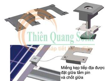 Tiếp địa khung nhôm pin năng lượng mặt trời