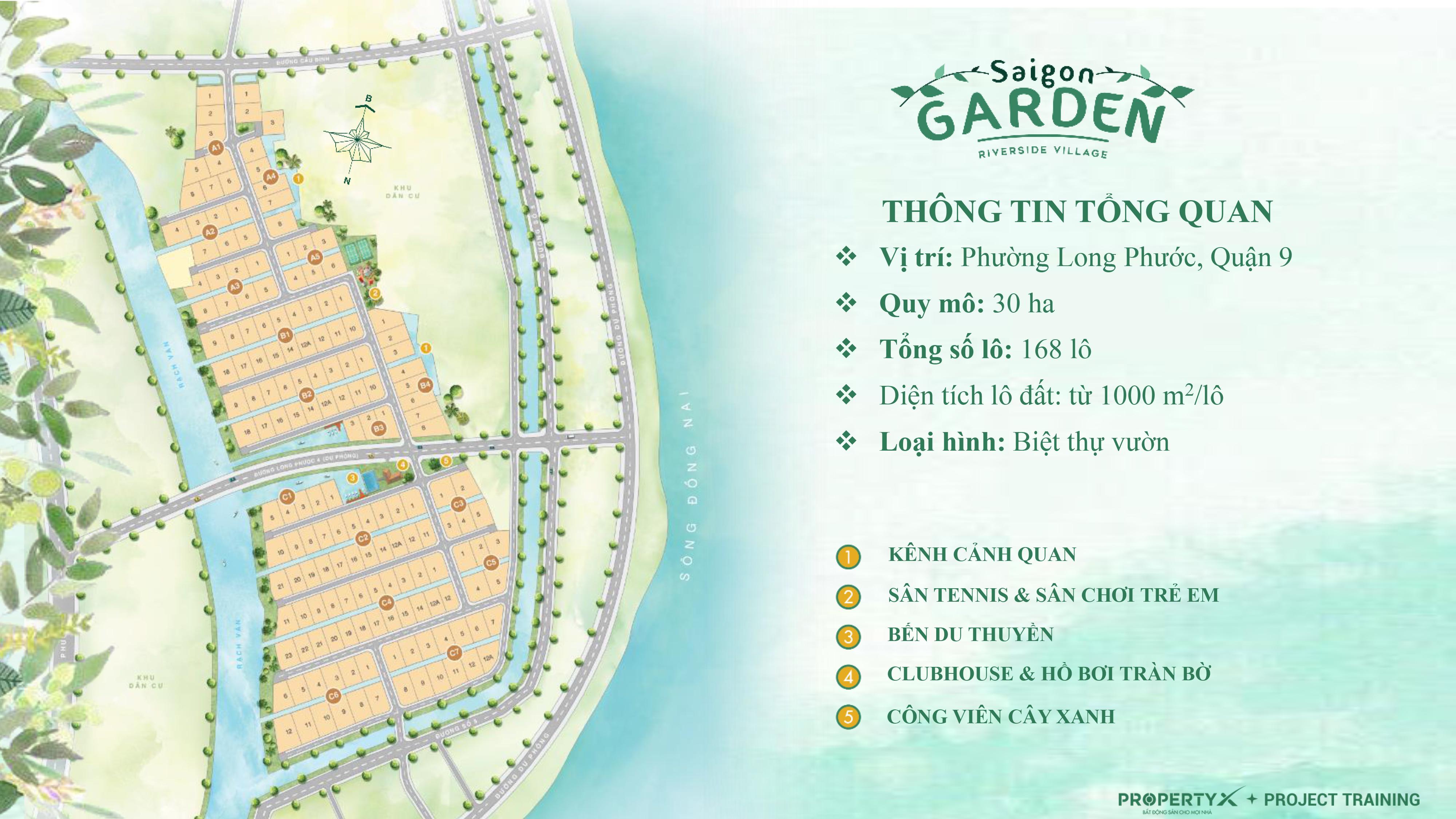 Mặt bằng Biệt thự Saigon Garden Riverside Village