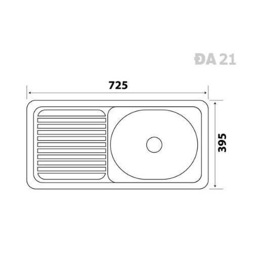 Chậu rửa chén inox 304 DA21 - Đại Thành