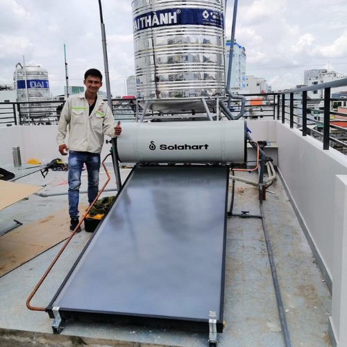 Máy nước nóng tấm phẳng chịu áp Solahart 150l