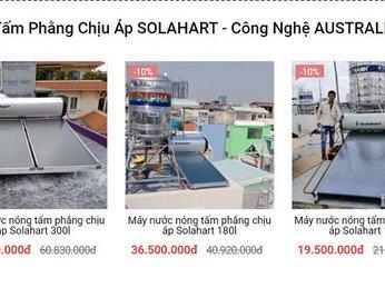Bảng giá Máy nước nóng SOLAHART - Giá ưu đãi, Khuyến mãi Quý khách hàng 2021