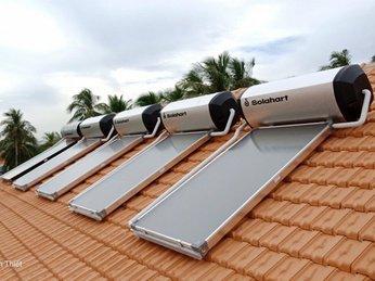 Máy nước nóng mặt trời Solahart - Tấm phẳng chịu áp Tốt nhất hiện nay