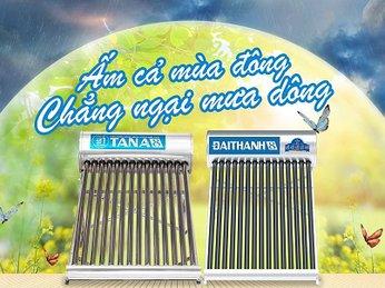 Chẳng ngại mưa giông kéo dài với Máy nước nóng mặt trời Đại Thành - Tập đoàn Tân Á Đại Thành