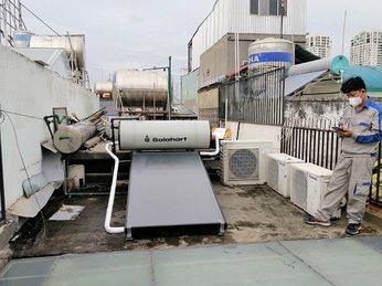 Hoàn thành lắp máy nước nóng solahart 150 lít tại khu City Land Gò Vấp, TP Hồ Chí Minh