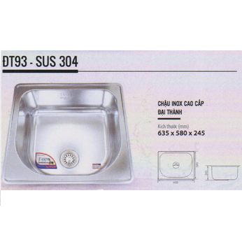 Chậu rửa chén inox Cao cấp DT93 - Đại Thành