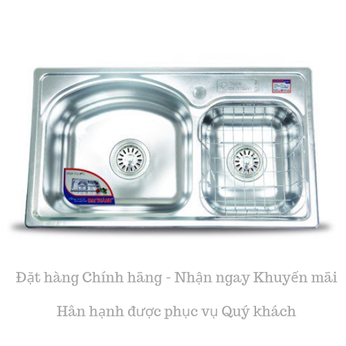 Chậu rửa chén inox Cao cấp DT82 - Đại Thành