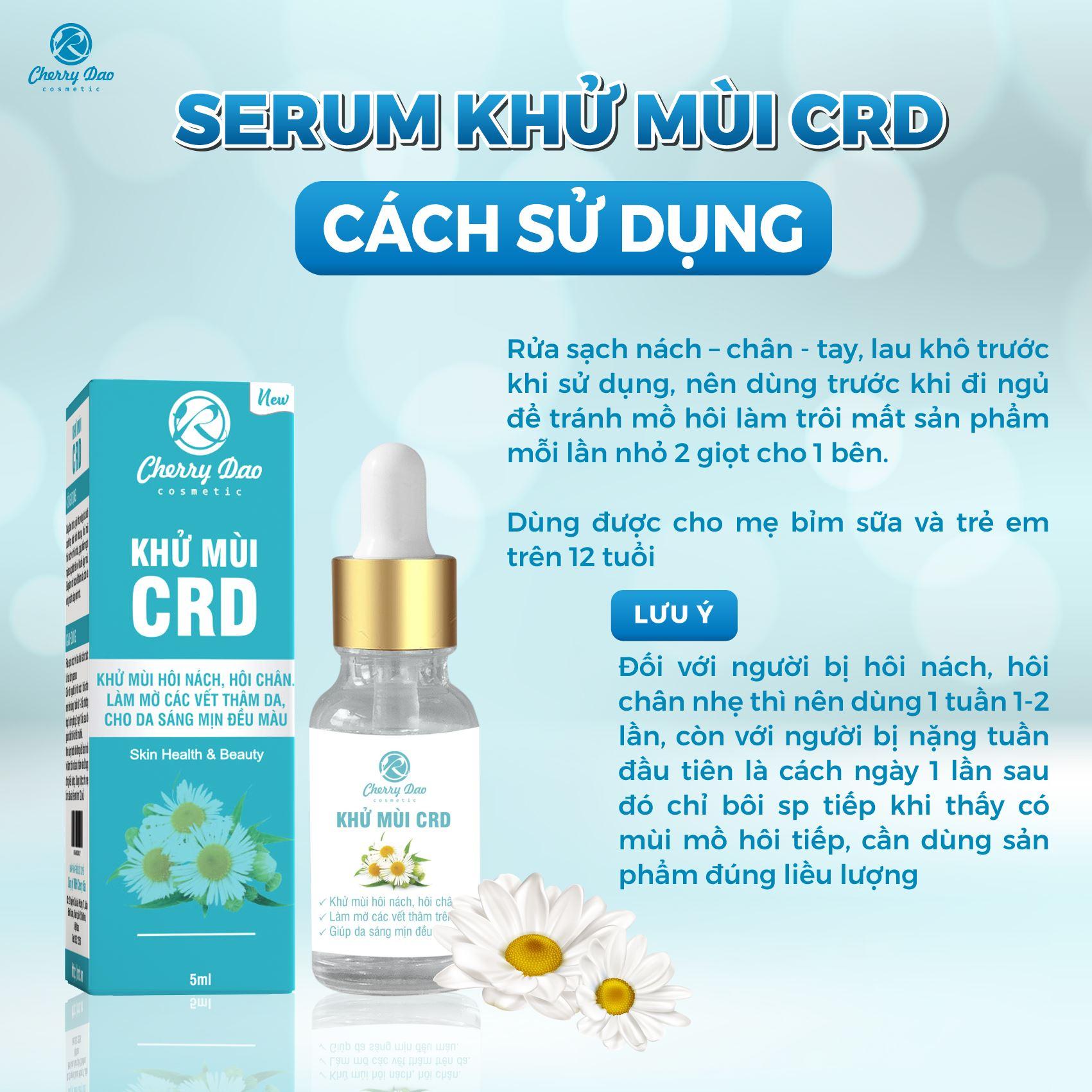 Serum Khử Mùi CRD Cherry Đào✔️Hiệu Quả 50% Ngay Lần Đầu