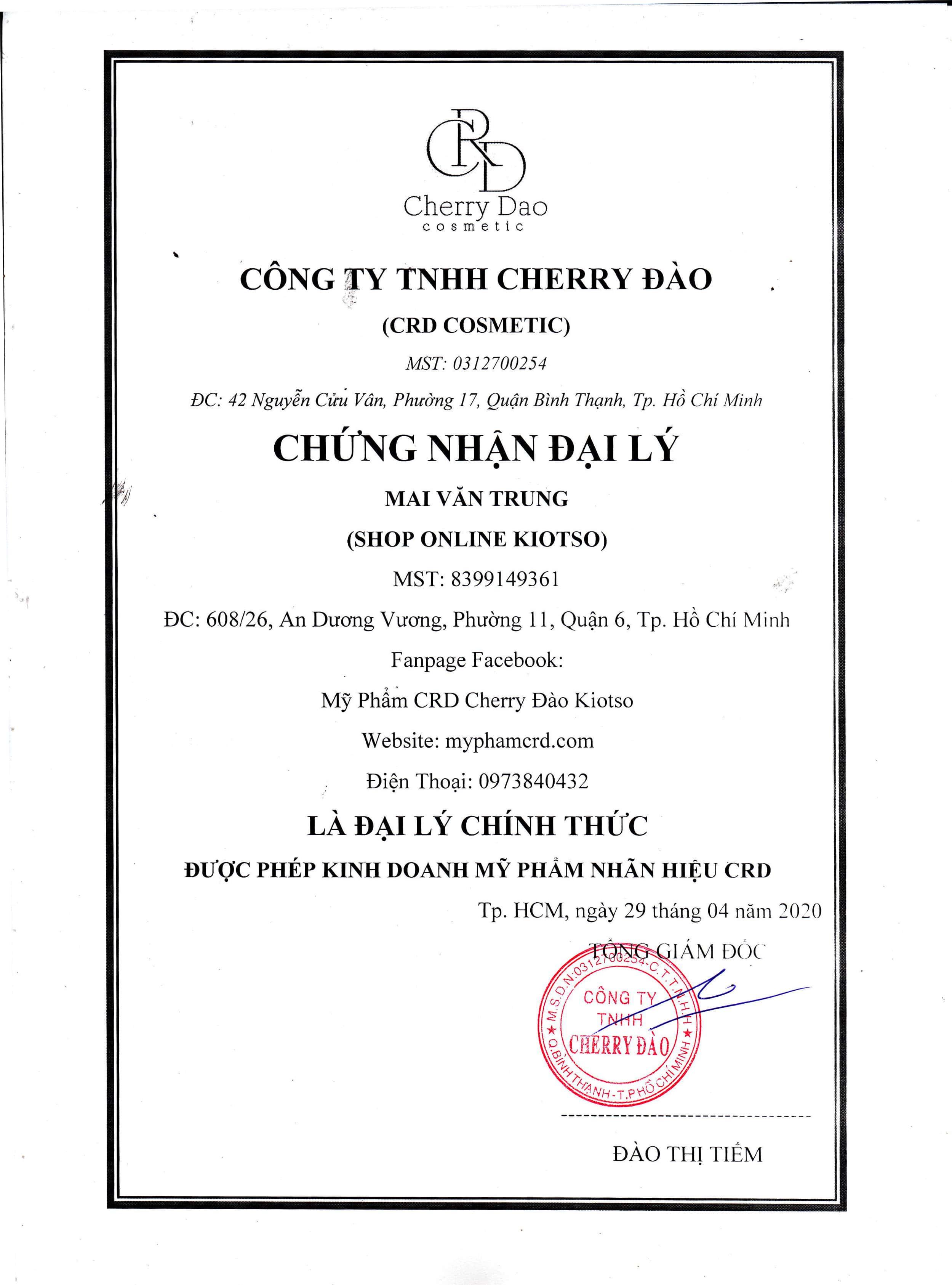Kem Body Gạo CRD Cherry Đào✅Tặng Quà Hấp Dẫn