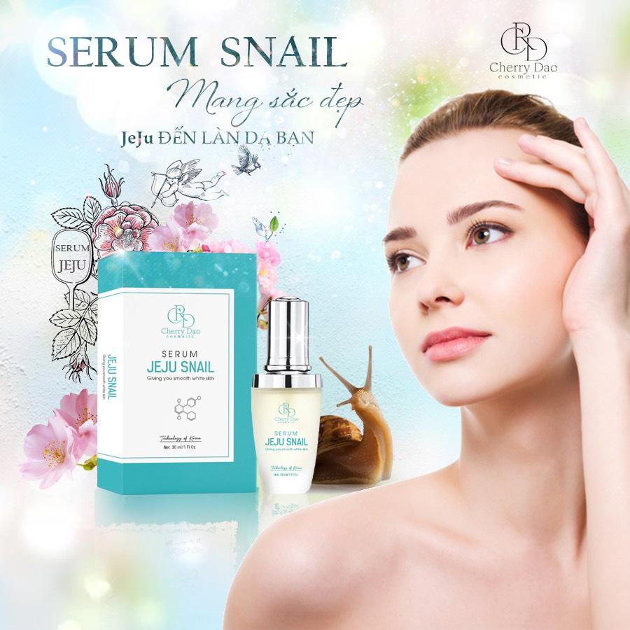 Serum JeJu Snail CRD Cherry Đào Chính Hãng✅Myphamcrd.com