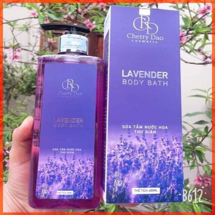 Sữa Tắm Hương Lavender CRD Cosmetic Cherry Đào Tặng Quà Hấp Dẫn