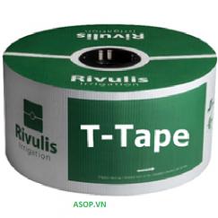 Dây tưới nhỏ giọt Rivulis T-tape 16m, dày 0.20mm, k/c 40cm, 1.0l/h, cuộn 2300m