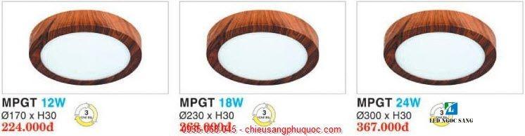 Đèn Panel tròn vân gỗ
