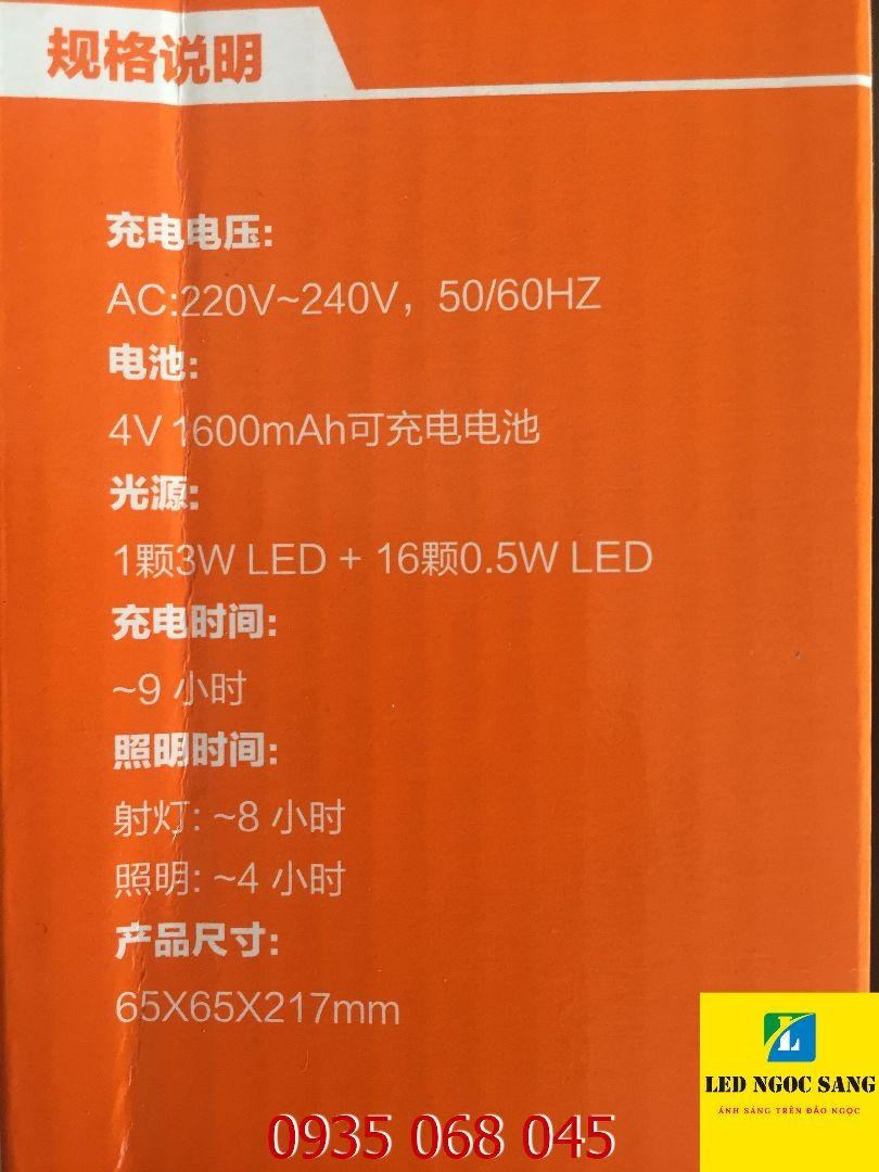 Đèn pin siêu sáng KN-4316