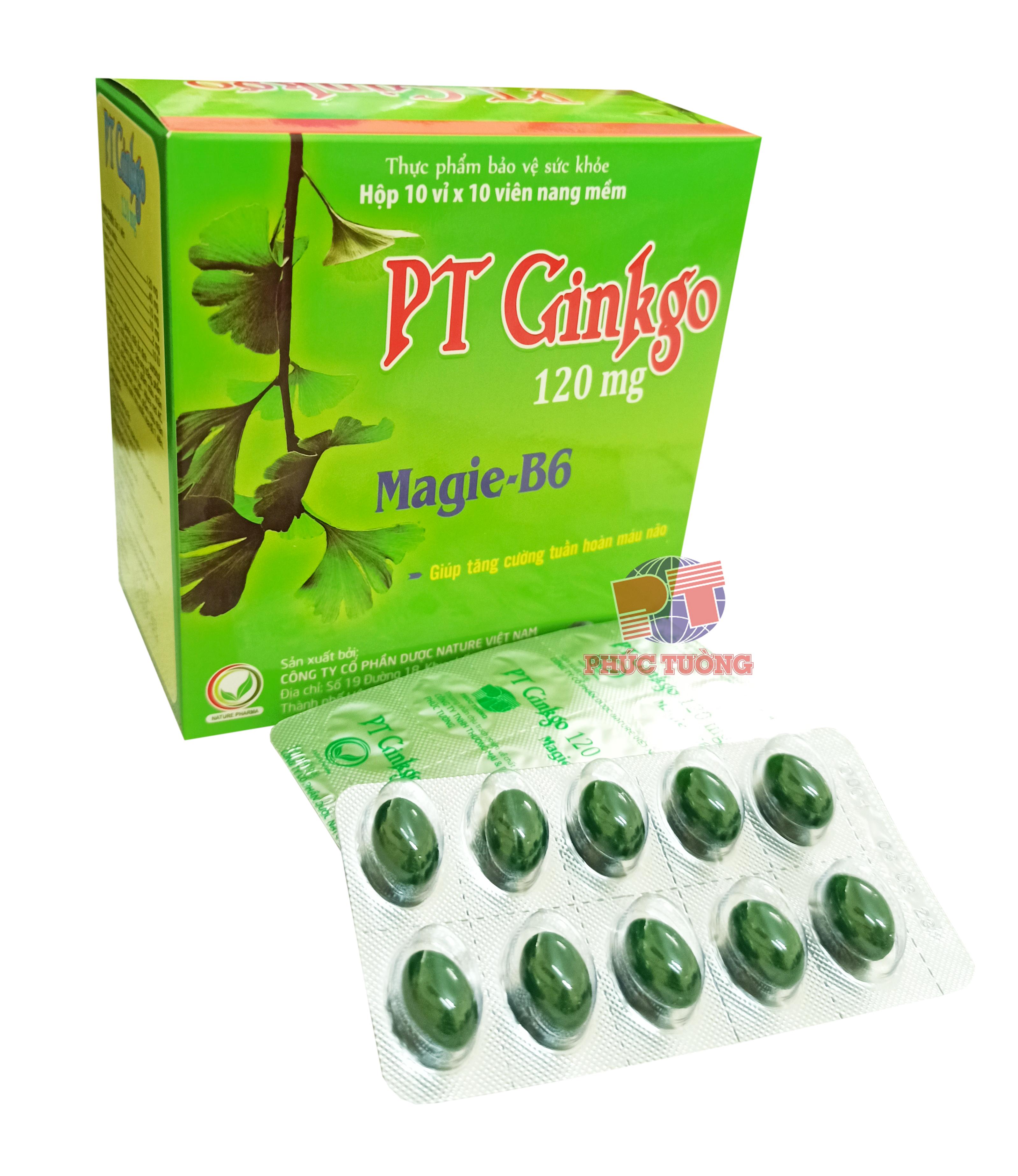PT Ginkgo - Viên uống bổ não và cải thiện trí nhớ