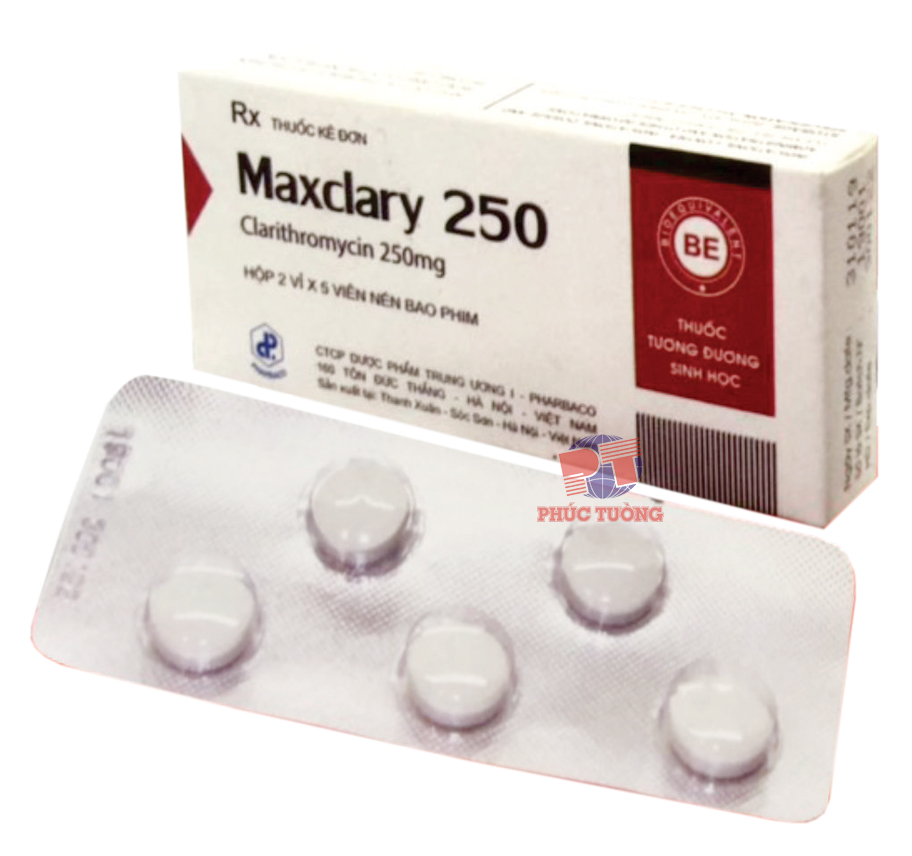 Maxclary 250 - Clarithromycin 250mg
