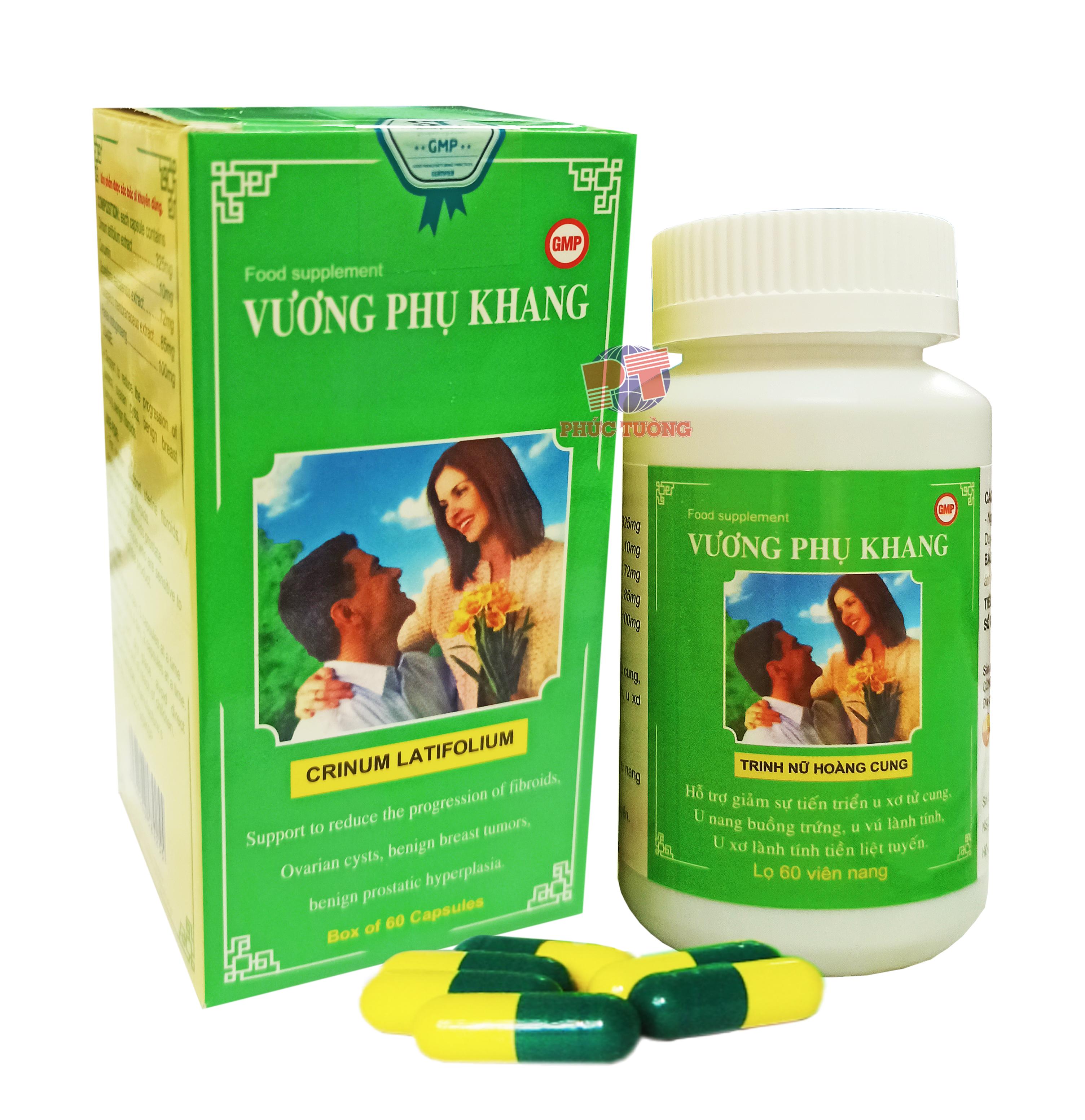 Vương Phụ Khang - Viên uống hỗ trợ điều trị u vú, u xơ tử cung, tuyến tiền liệt
