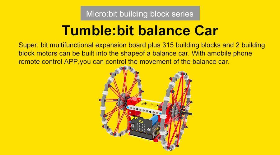 Tumble:bit - Xe robot cân bằng Tumble Bit - Đồ chơi Lego - Microbit