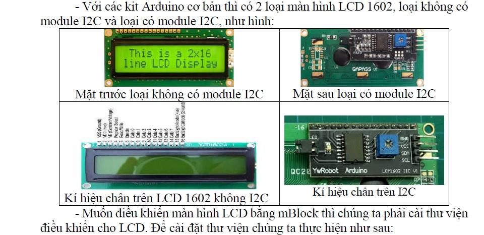 Màn hình LCD 1602 I2C - bộ kit arduino - bộ kit microbit - lập trình