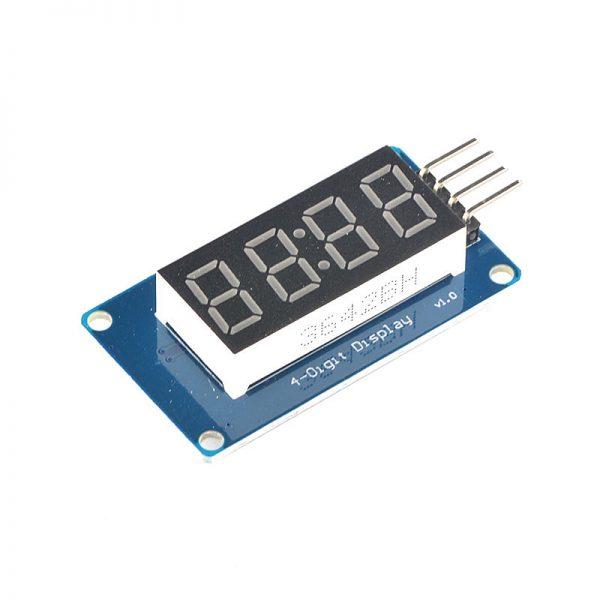Mạch Hiển Thị 4 Led 7 Đoạn TM1637 (kiểu thời gian) - bộ kit arduino