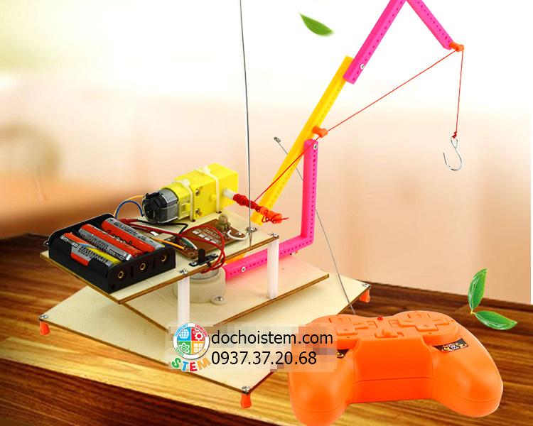 Cần trụcđiều khiển - đồ chơi STEM - đồ chơi mô hình - đồ chơi lắp ráp