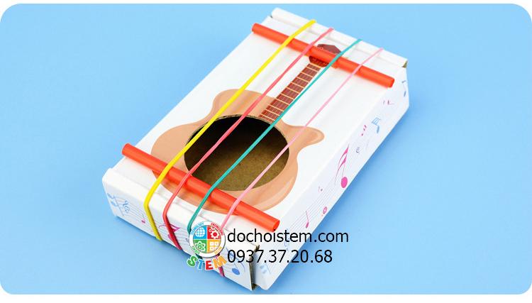 Đàn Guitar giấy- đồ chơi STEM - đồ chơi mô hình - đồ chơi lắp ráp