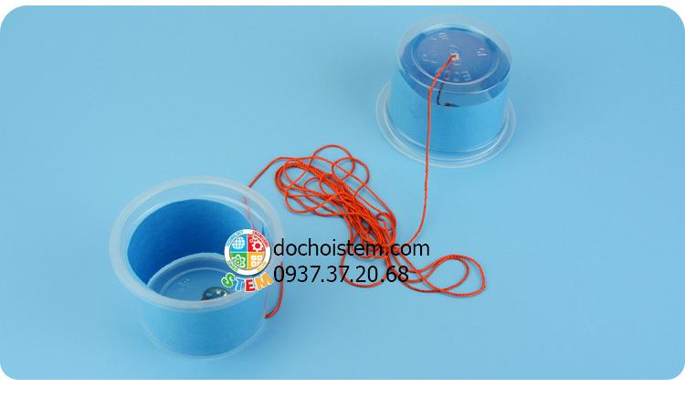 Điện thoại dây dài- đồ chơi STEM - đồ chơi mô hình - đồ chơi lắp ráp
