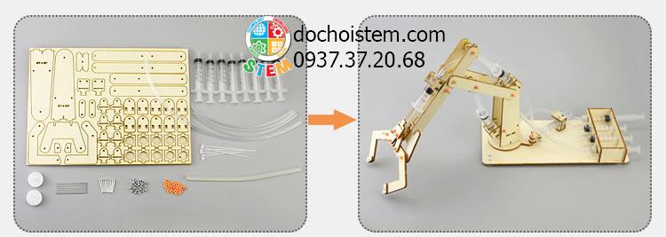 Cánh tay robot thủy lực - đồ chơi STEM - đồ chơi mô hình