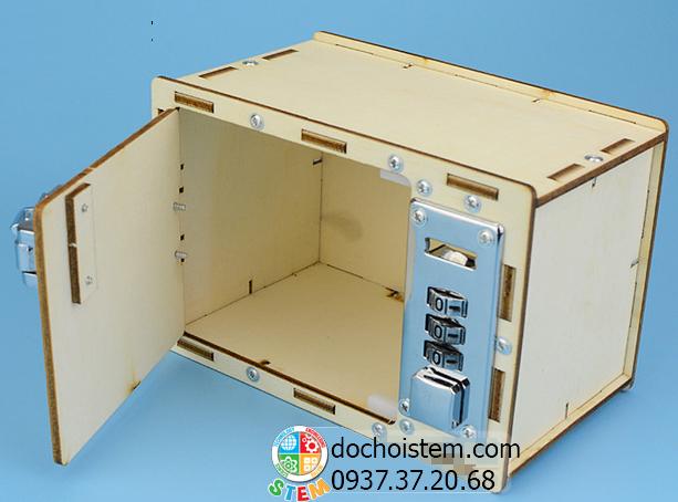 Hộp gỗ mật khẩu- đồ chơi STEM - đồ chơi mô hình - đồ chơi lắp ráp