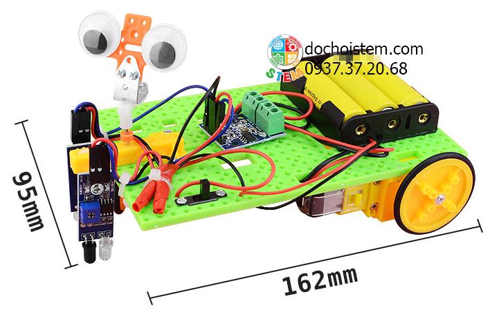 Xe dò line- đồ chơi STEM - đồ chơi mô hình - đồ chơi lắp ráp