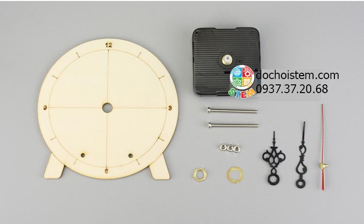 Đồng hồ gỗ- đồ chơi STEM - đồ chơi mô hình - đồ chơi lắp ráp