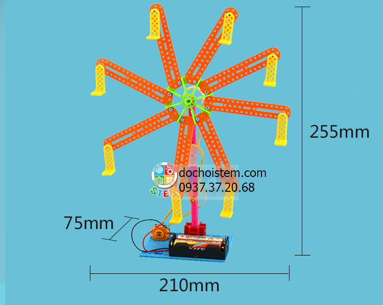 Đu quay- đồ chơi STEM - đồ chơi mô hình - đồ chơi lắp ráp