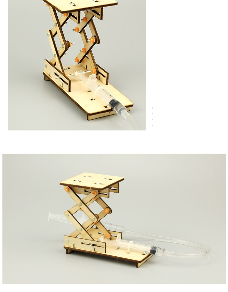 Giàn nâng thủy lực- đồ chơi STEM - đồ chơi thông minh - đồ chơi lắp ráp