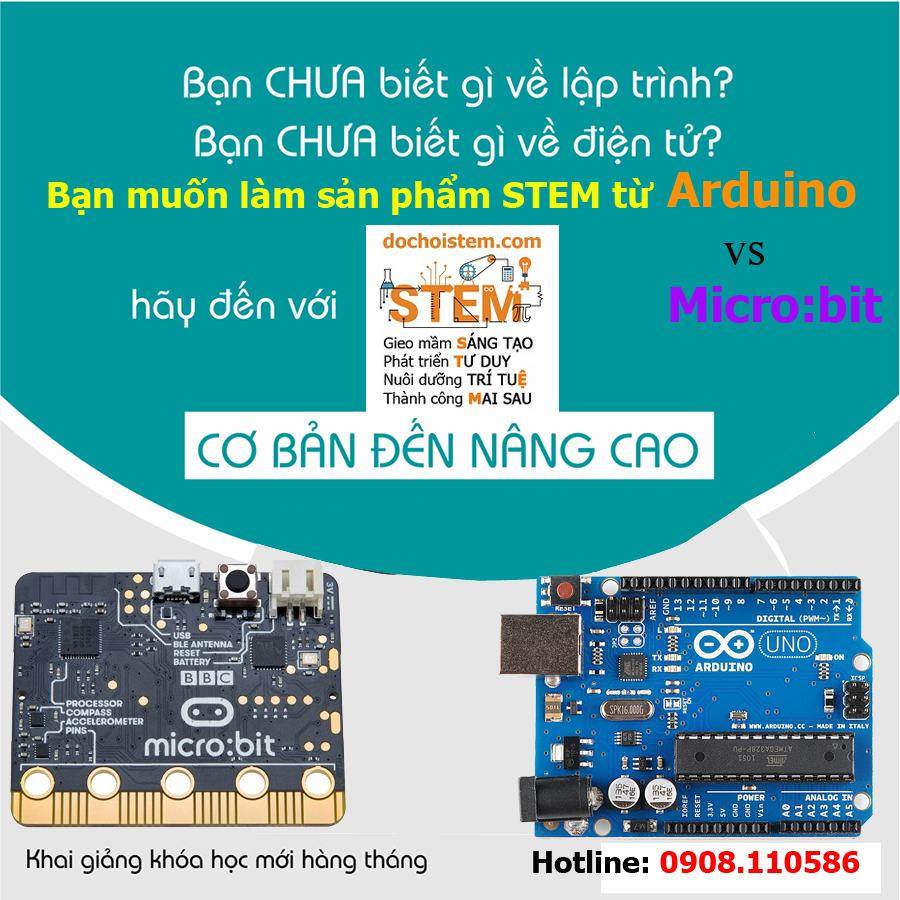 khóa học lập trình arduino